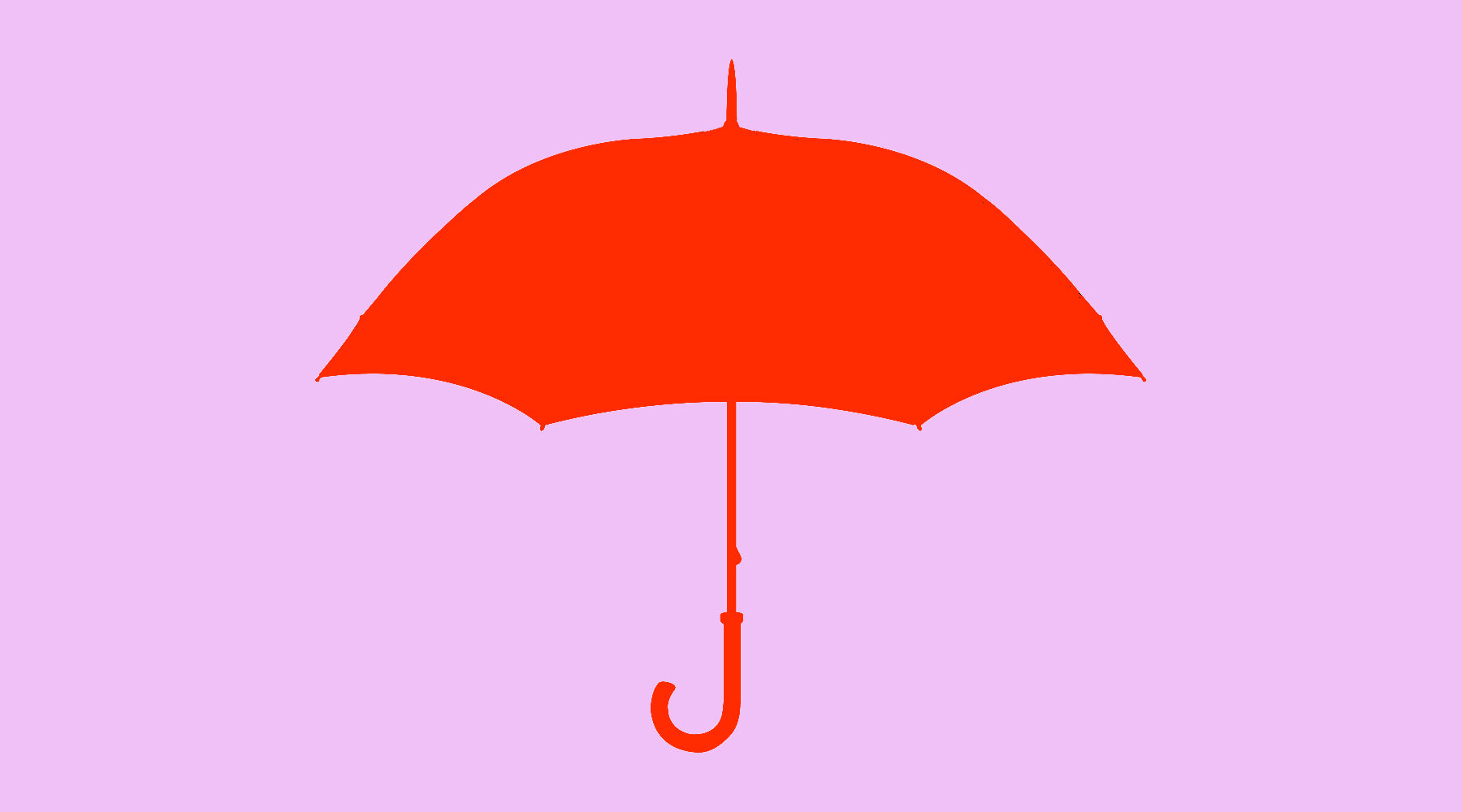 Red Umbrella on Lavender Background | Nikki Darling Australia