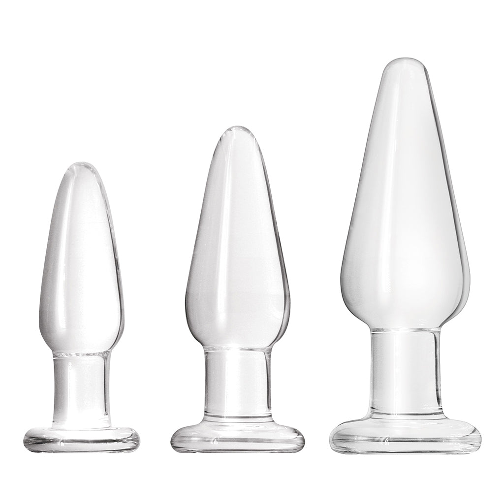 NS Novelties Crystal Tapered Kit Clear - Three Plugs Upright | Nikki Darling Australia