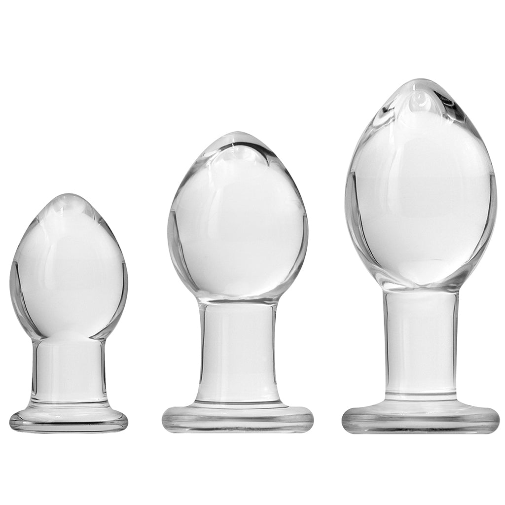NS Novelties Crystal Trainer Kit Clear - Three Plugs Upright | Nikki Darling Australia