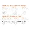 Tantus Vibrating Super Soft C-Ring Infographic | Nikki Darling Australia