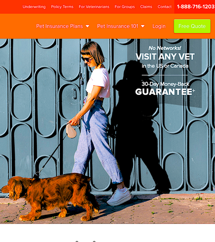 ASPCA PET INSURANCE: no networks, visit any vet in US or Canada