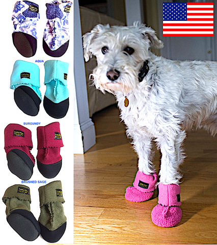 THERAPAW CUSHY-PAW SLIPPERS: fleece slippers with thick padded soles for painful paws