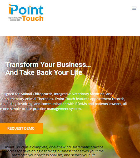 IPOINT TOUCH: integrative veterinary medicine practice software