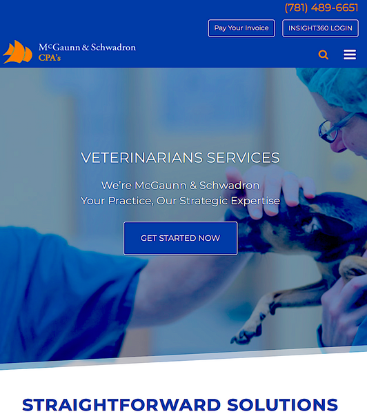 McGAUNN & SCHWADRON: financial services for veterinary practice owners
