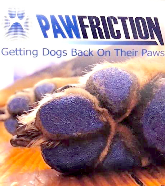 PAW FRICTION: paw pad coating that decreases sliding and slipping