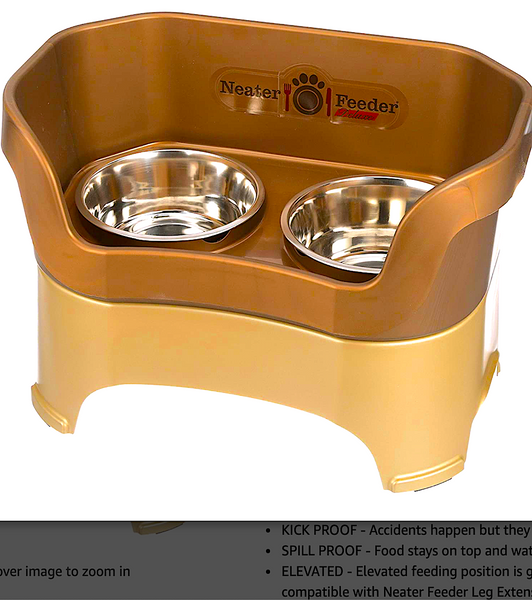 NEATER FEEDER DELUXE DOG AND CAT FEEDER: elevated, kick-proof, and spill-proof