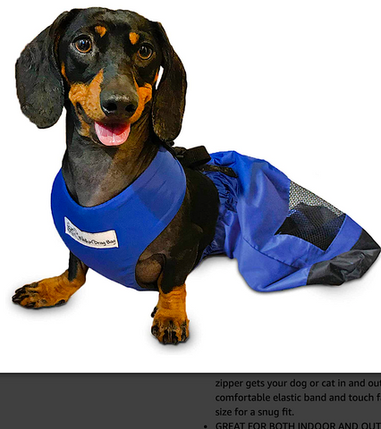 HANDICAPPED PETS DRAG BAG: protection for back legs when not in wheelchairs
