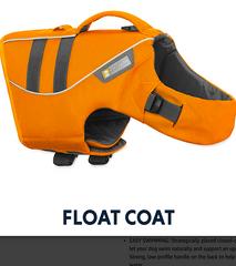 RUFFWEAR FLOAT COAT FOR SWIM & REHAB: adjustable and reflective