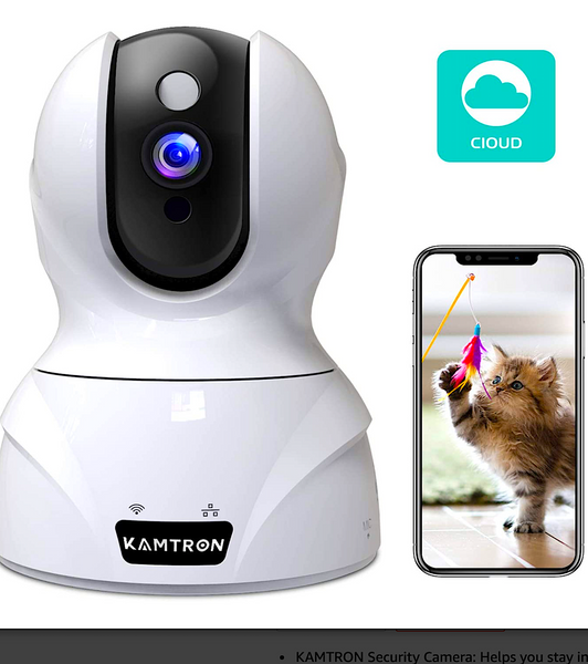 KAMTRON WIRELESS SECURITY CAMERA: home pet monitor with motion detection and night vision