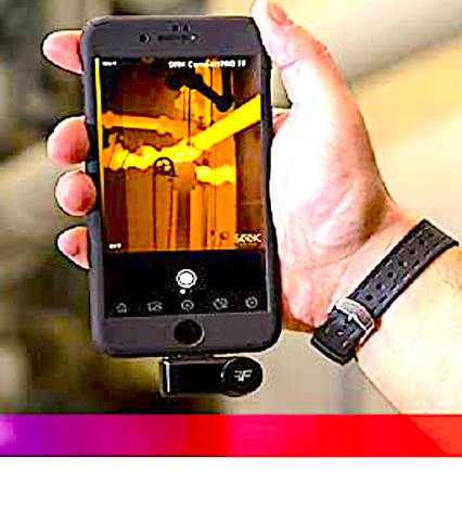 SEEK THERMAL IMAGING COMPACT PRO: plugs into your phone or tablet; for Android or iOS