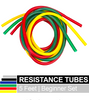 THERABAND TUBING: 3-color set of resistance tubes for your therapeutic exercise needs