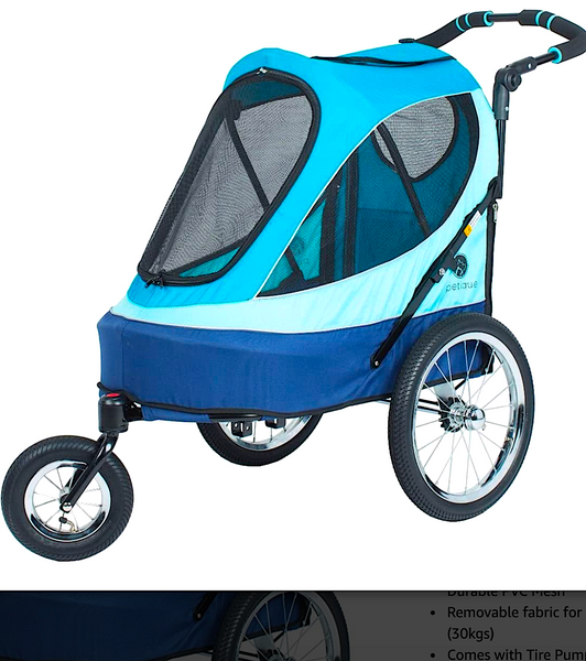 PETIQUE ALL TERRAIN JOGGER: lightweight stroller for pets who need help getting around