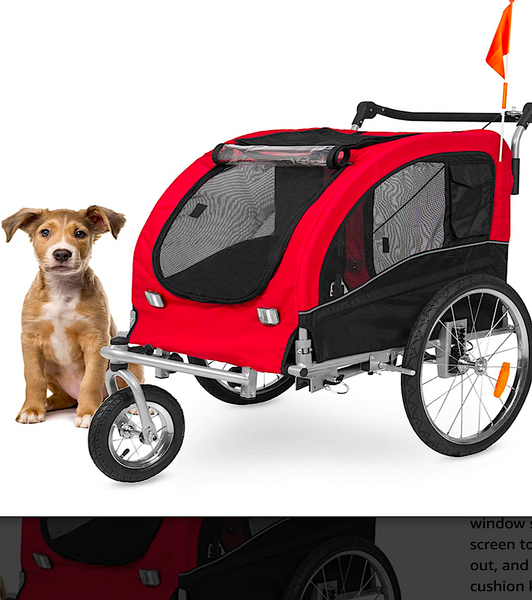 BEST CHOICE 2-IN-1 STROLLER: combo stroller for pets who need help getting around