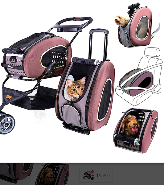 IBIYAYA 5-IN-1 PET CARRIER SYSTEM: stroller, backpack, car seat and more