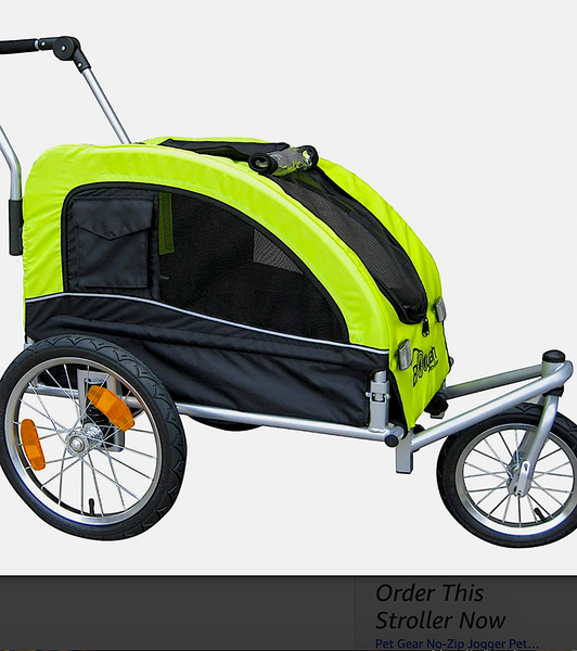 BOOYAH STROLLER & BIKE TRAILER: combo stroller for medium and large pets
