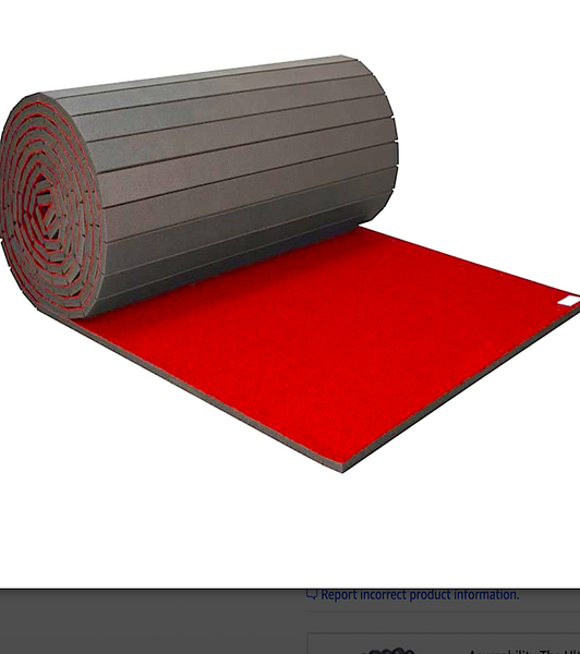 INC-STORES CARPETED THERAPY & SAFETY MATS: roll out mats in variety of sizes