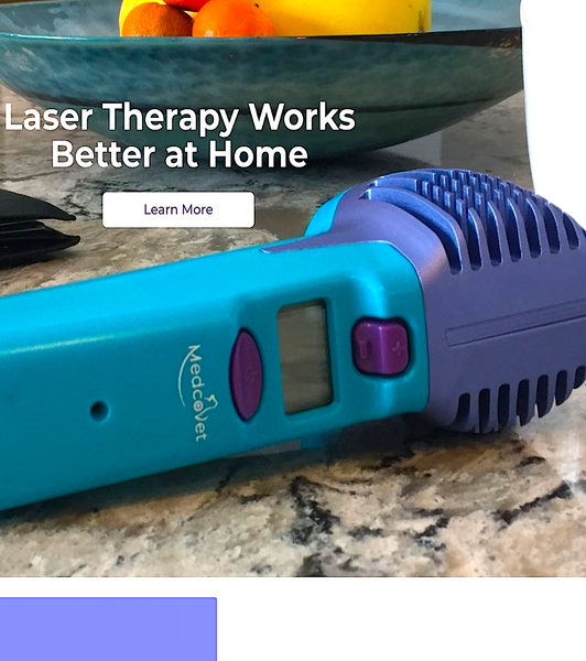 MEDCOVET LUMA: laser therapy works better at home
