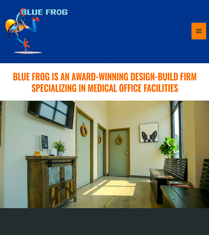 BLUE FROG: award-winning designs specializing in veterinary offices