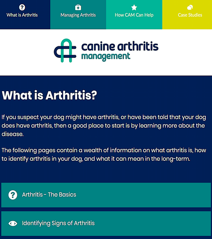 CANINE ARTHRITIS MANAGEMENT: better care for our aging canine friends