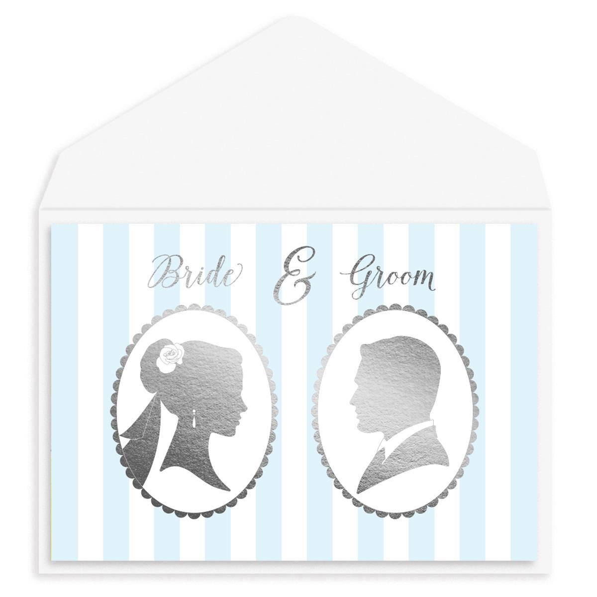 Wedding Silhouettes Wedding Card