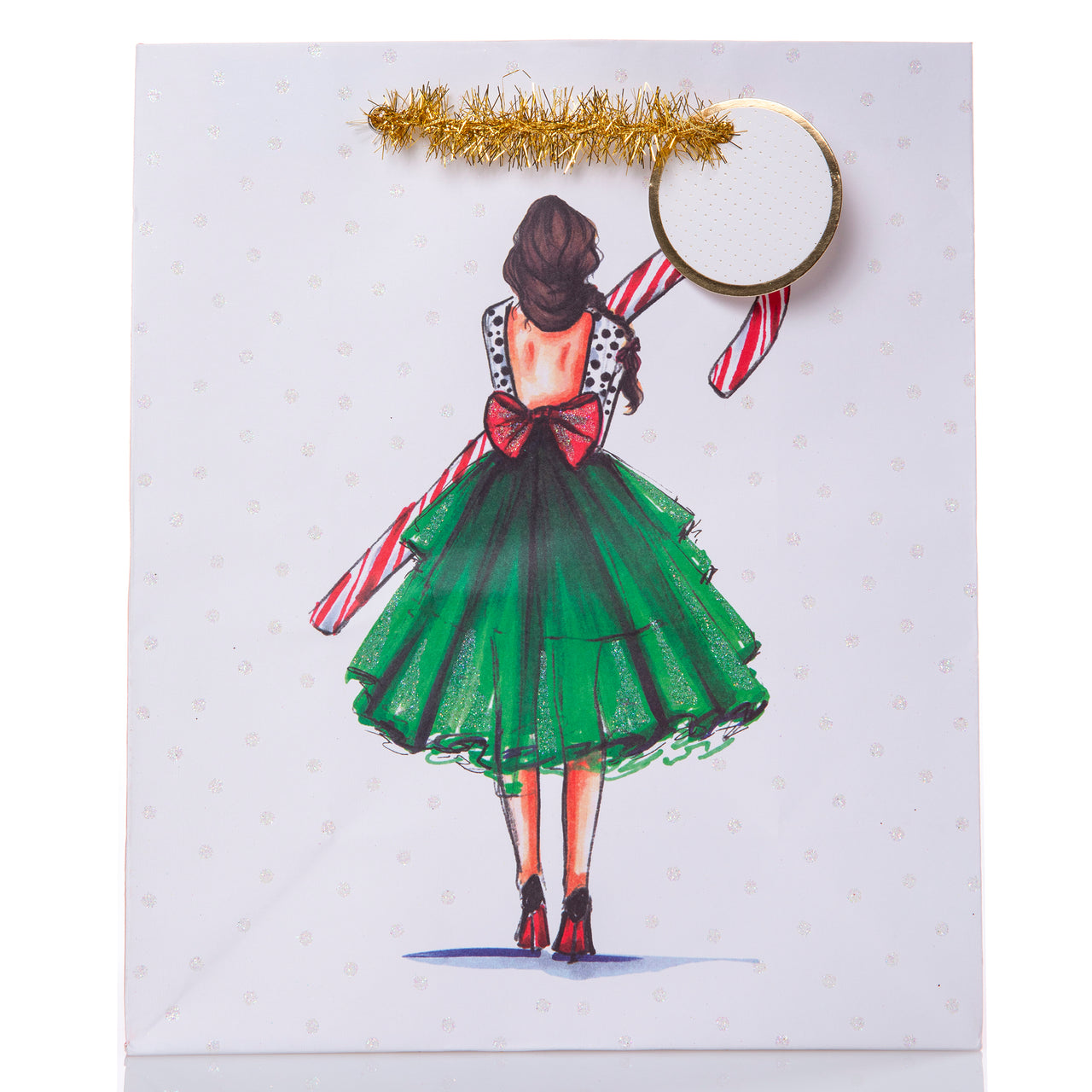 Candy Cane Girl Medium Gift Bag