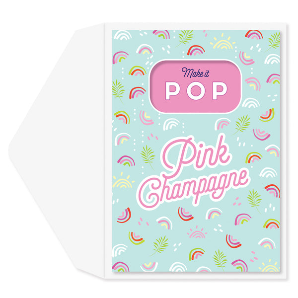 Pop Pink Champagne Congratulations Card