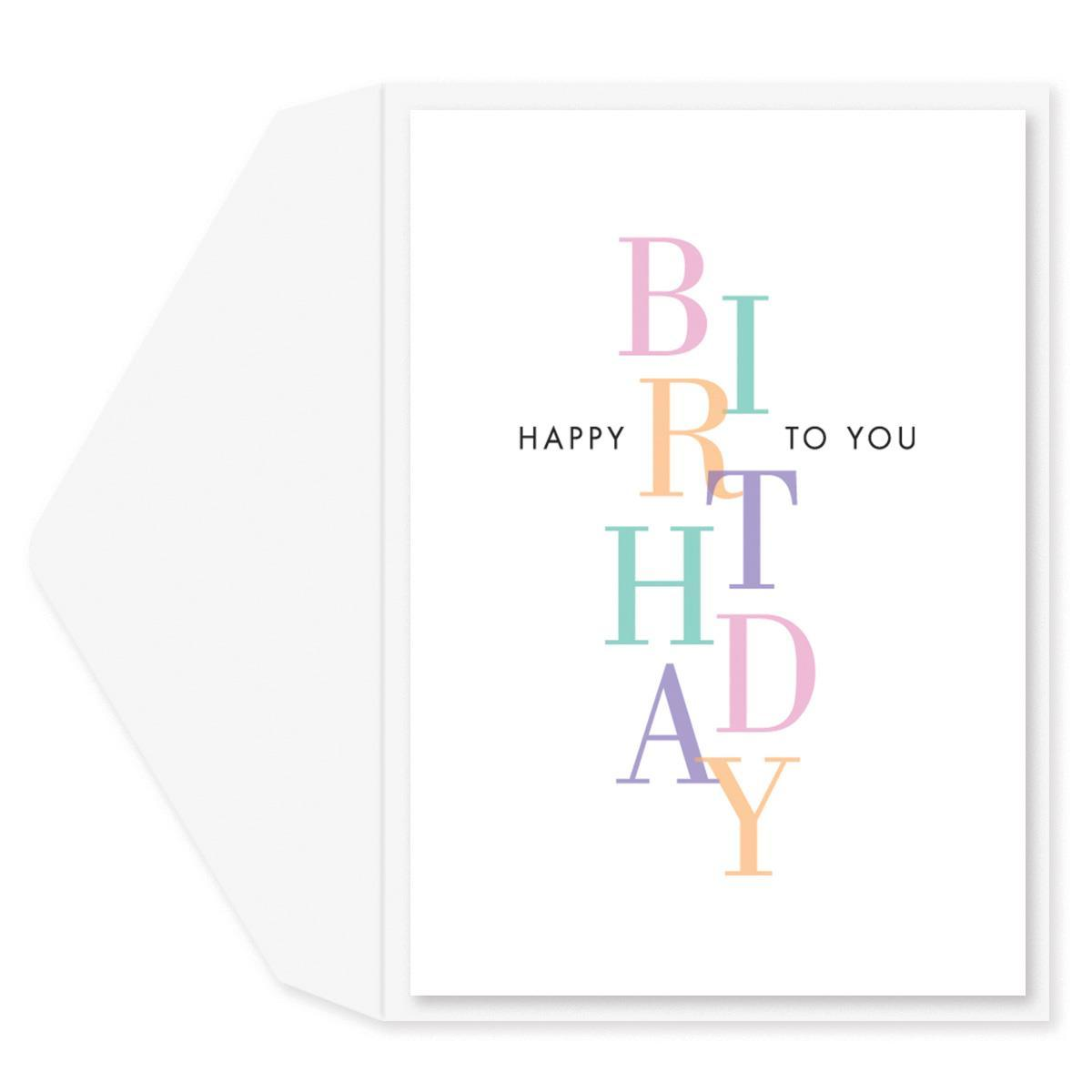 Pretty Pastels Birthday Card