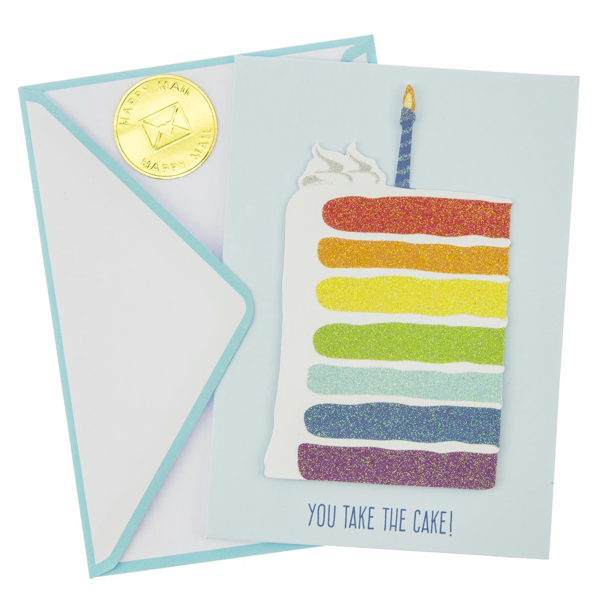 Rainbow Layers Birthday Handmade Card