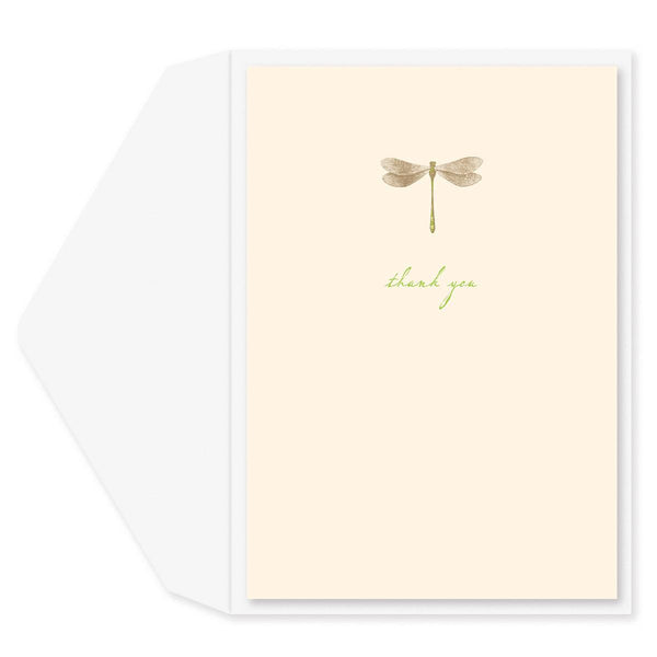 Golden Dragonfly Thank You Card