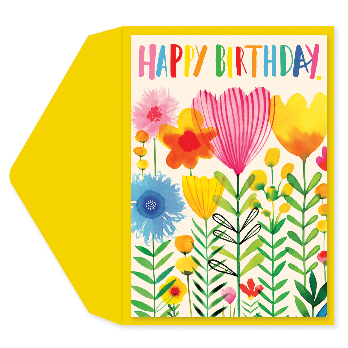 Birthday Flowers Birthday Card