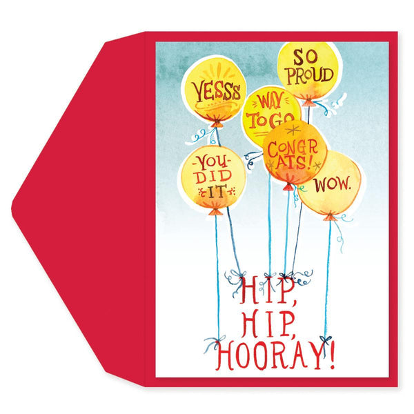Hip Hip Hooray Congratulations Card