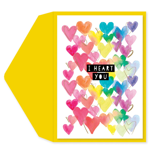 Love in Color Blank Card