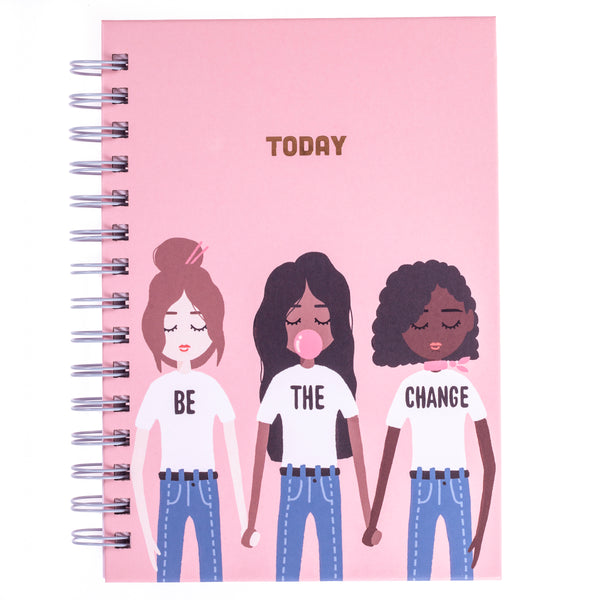 Be the change 6x8 Spiral Hard Cover Journal