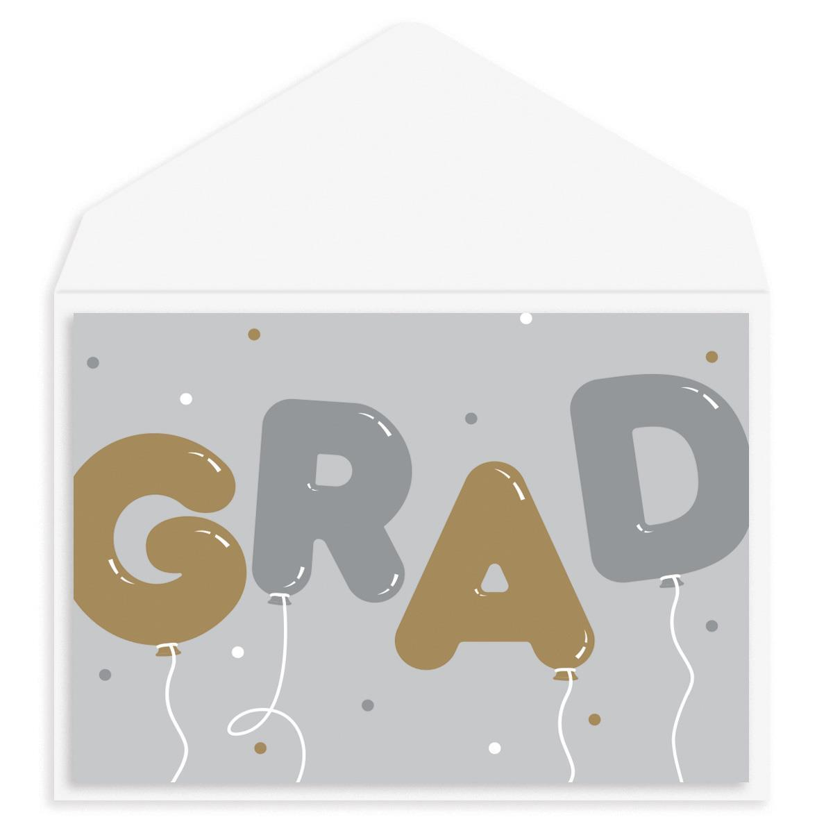 Grad Balloons Graduation Card