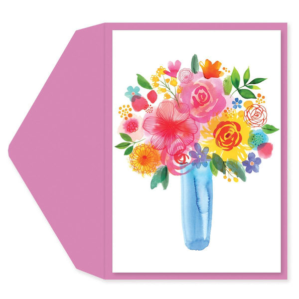 Watercolor Bouquet Birthday Card