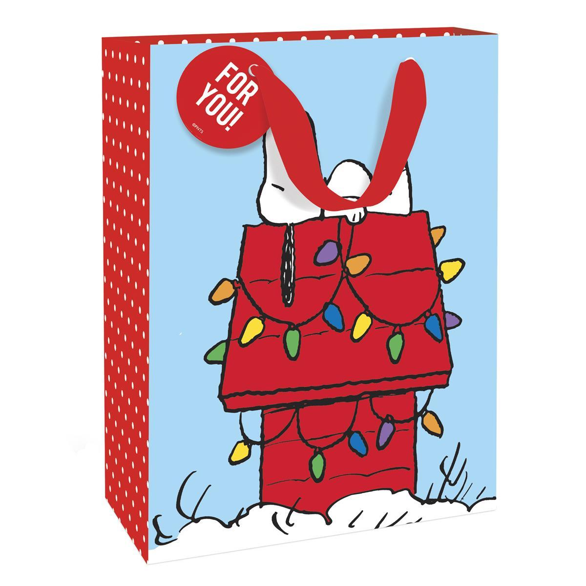 Peanuts House Holiday Medium Gift Bag