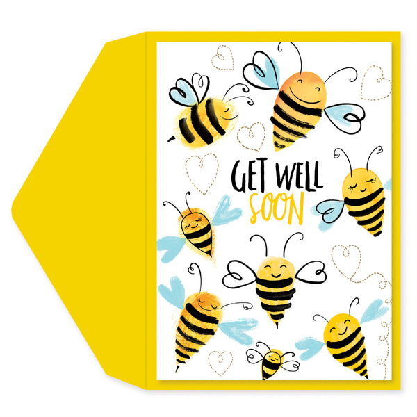 Get Well Bees Get Well Card