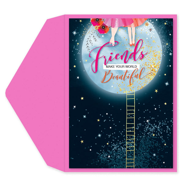 Friends Make Your World  Beautiful Friendship Card