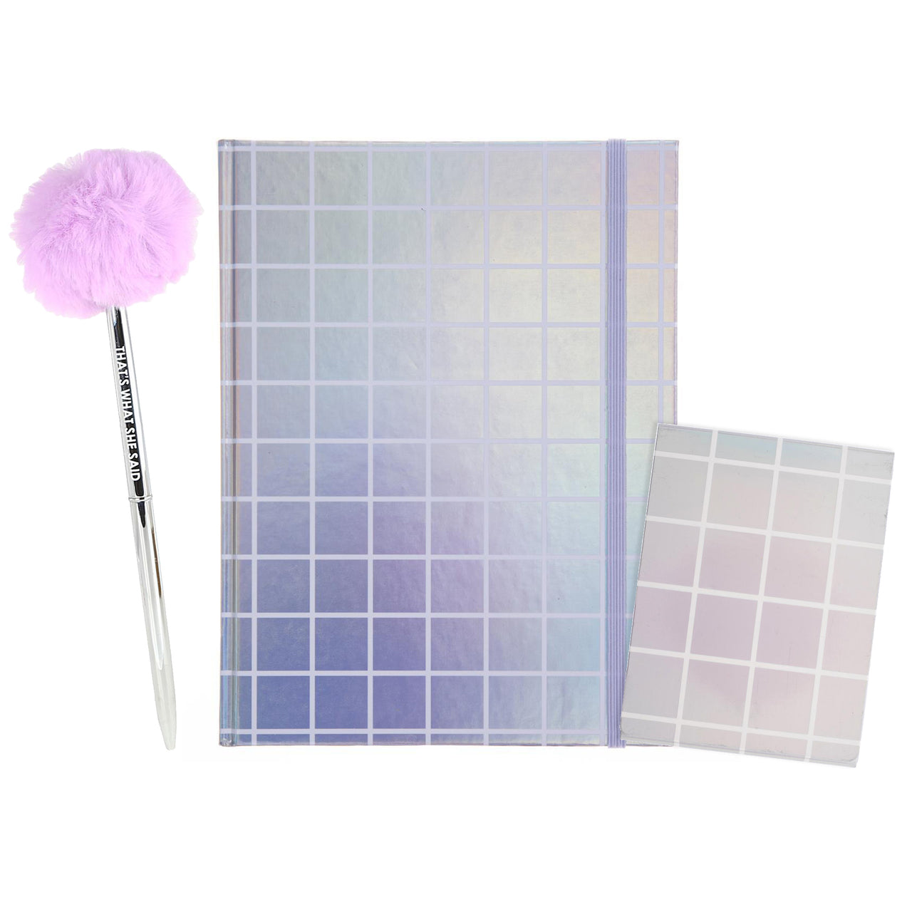 Holographic Stationery Set
