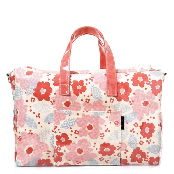 Pop Floral Laminated Weekender