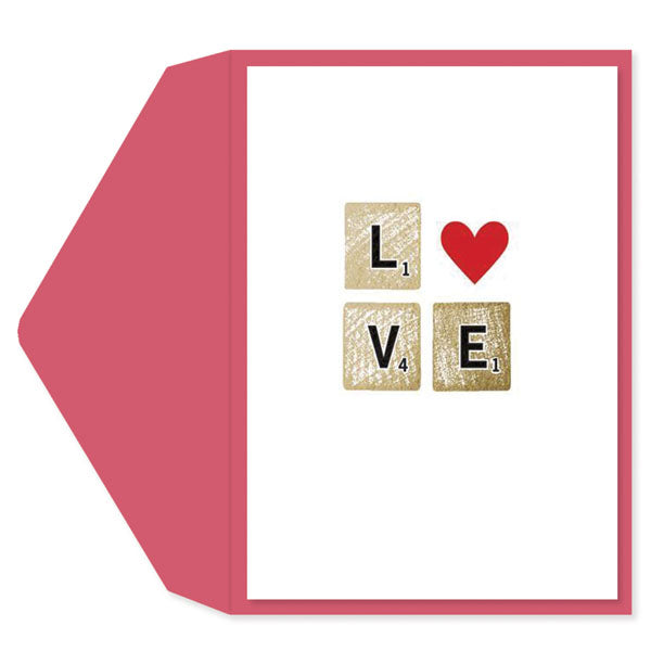 Scrabble Love Valentine's Day Card