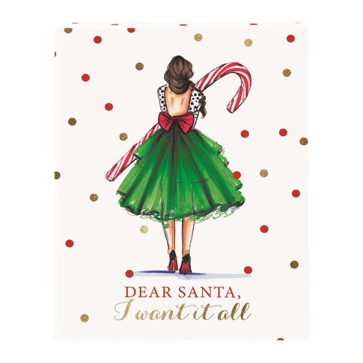 Candy cane girl Holiday Gift Card Box