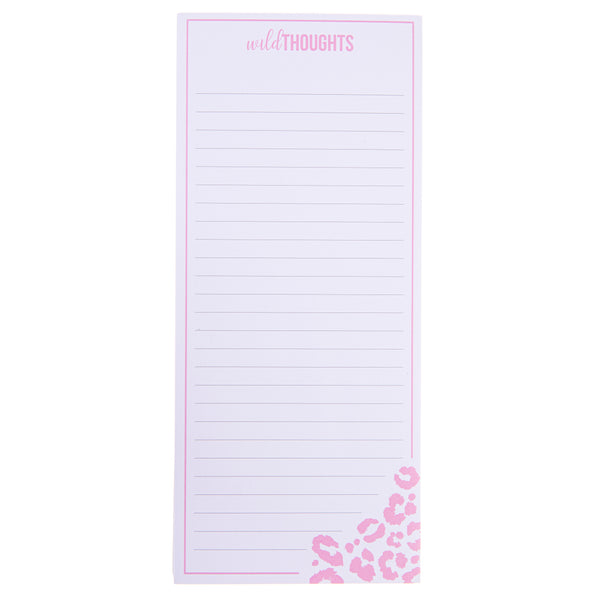Wild Thoughts Magnetic Notepad