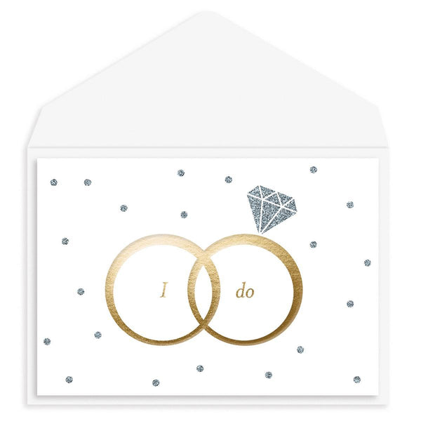 I Do Rings Wedding Card
