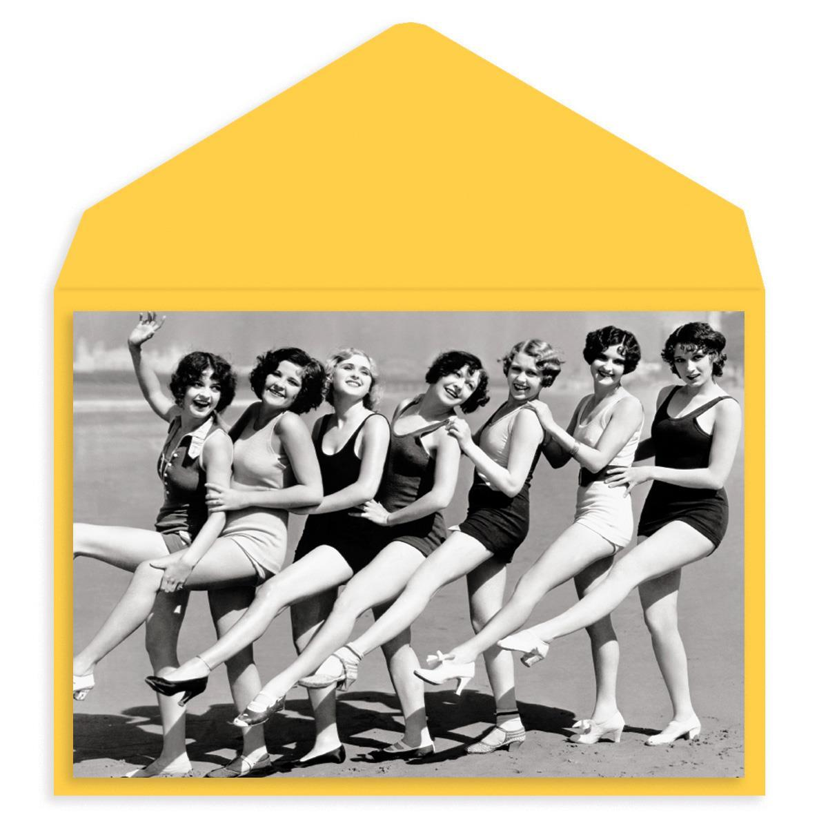 Bathing Beach Beauties Birthday Card