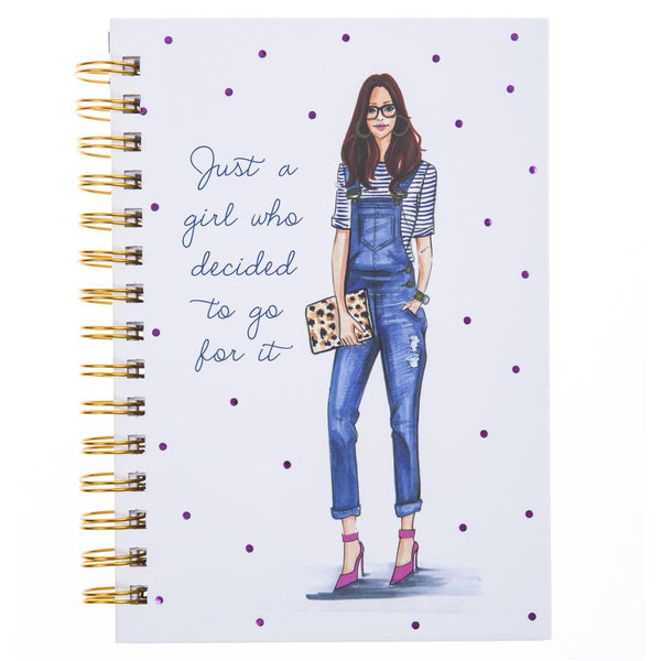 Denim Overall Diva Hard Bound Journal