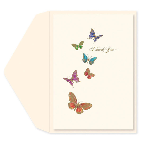 Butterfly Kisses Thank You Card