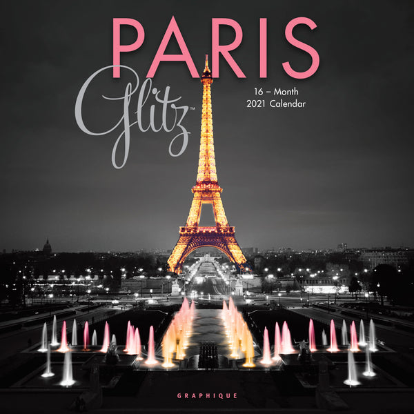 Paris Glitz Wall Calendar