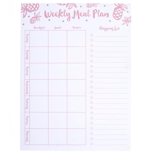 Pineapple Meal Plan Large Notepad