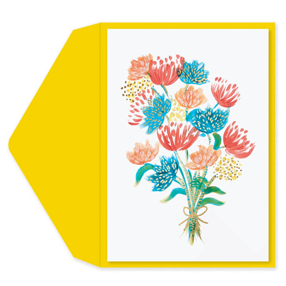 Floral Bouquet Blank Card